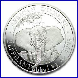 2021 Somalia 1 kilo Silver Elephant SKU#219845