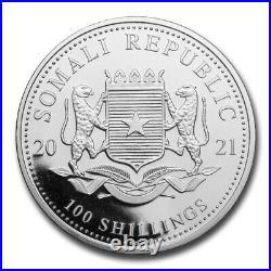 2021 Somalia 1 oz Silver Elephant (Colorized) SKU#223727