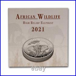 2021 Somalia 1 oz Silver Elephant (High Relief) SKU#225249
