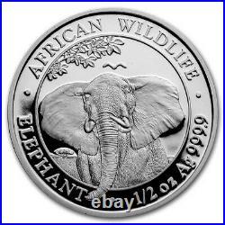 2021 Somalia 4-Coin Silver African Elephant Prestige Proof Set SKU#231442