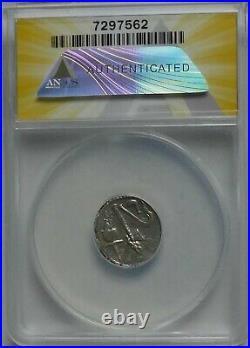 49-48 BC Julius Caesar AR Silver Elephant Denarius Coin ANACS EF40 Well Centered