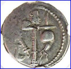 49- 48 Bc Rome Julius Caesar Silver Denarius Elephant Coin Ngc Choice Very Fine