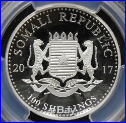 4pc LOT PCGS PR70 DCAM 2017 SOMALIA HIGH RELIEF AFRICAN ELEPHANT 1ST DAY ISSUE