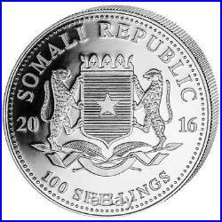 5-2016 1 oz. Somalia Elephant. 999 Silver coin BU (5 oz-5 coins)