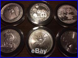 9 1 Oz Animal Theme World Silver Coins China Panda Somali Elephant African Lion