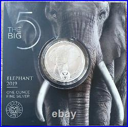 AFRIQUE du SUD 2020 Big Five Eléphant(n°1) 15 000 ex. 1 oz Arg RARE Recherche