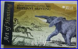 Africa-Malawi 20 Kwacha 2011 Silber #F4010 Colored Elephant Hunting rare 3k