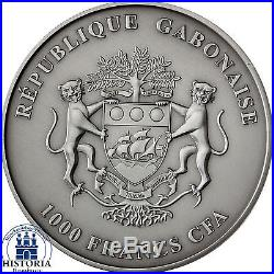 Africa Series 2013 Gabon 1000 Francs Baby Elefanten Baby Elephant Silver Ounce