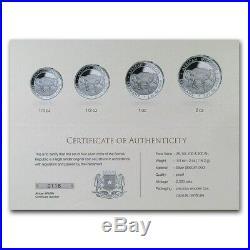 African ELEPHANT Prestige 4-Coin Silver Proof Set 2020 Somalia