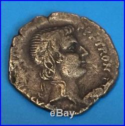Ancient Greek Roman Coin 100AD Silver Elephant Denarius Corinthia Brutus Athena