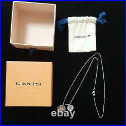 Auth Louis Vuitton Necklace Chapman Brothers Collaboration Elephant Coin Silver