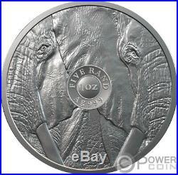 BIG FIVE Elephant Krugerrand Set 2x1 Oz Silver Coins 6 Rand South Africa 2019