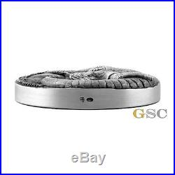 CFA 2017 5000 Francs Big Five Elephant 5oz. 999 fine silver coin