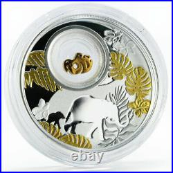 Cameroon 500 francs Lucky Coins series Little Elephant on Luck silver coin 2020