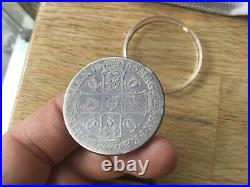 Charles II crown 1666, GB Elephant below bust silver coin, sp 3356, rare coin. E782