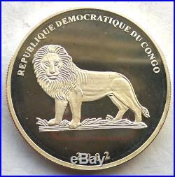 Congo 2002 Elephant 20 Francs 1oz Silver Coin, Proof