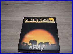 Congo 2008 BIG FIVE Elephant 1 Oz Silver Coin