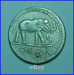 DENARIUS COIN Julius Caesar / Elephant 3.4g UNRESEARCHED ANCIENT ROMAN AR SILVER