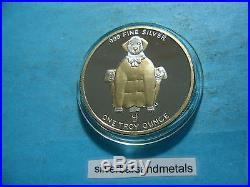 Dragon Elephant Pig 1994 Balloon Shape Kodak Albuquerque 999 Silver Round Coin