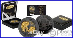 ELEPHANT 15 Anniversary Golden Enigma Silver Coin 100 Shillings Somalia 2018