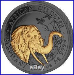ELEPHANT GOLDEN ENIGMA 1 Oz Silver Coin Somalia 2018