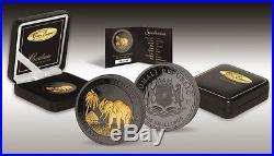 ELEPHANT Golden Enigma 1 Oz Silver Coin 100 Sh Somalia 2017