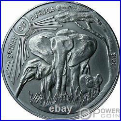 ELEPHANT I Spirit Of Africa 1 Oz Silver Coin 1000 Francs Burkina Faso 2016