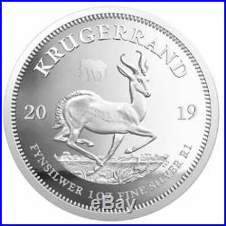 ELEPHANT & KRUGERRAND SOUTH AFRICA 2019 2 X 1 oz Proof Silver Coins Privy Mark