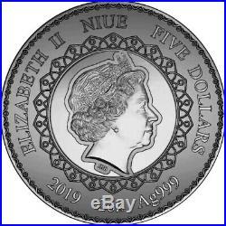 ELEPHANT Mandala Collection 2 Oz Silver Coin $5 Niue 2019