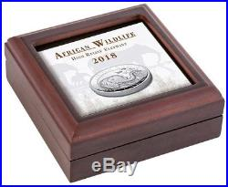 ELEPHANT Ultra High Relief Proof Silver Coin African Wildlife Somali 2018