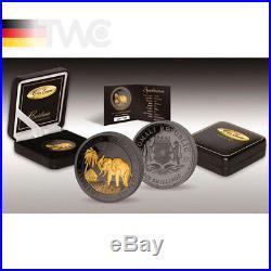 Elephant Golden Enigma Edition 1oz BU Silver Coin 100 Shillings Somalia 2017