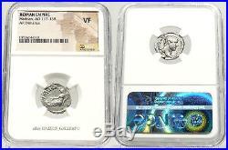 HADRIAN / AFRICA in Elephant headdress NGC VF Ancient Roman Silver Denarius Coin