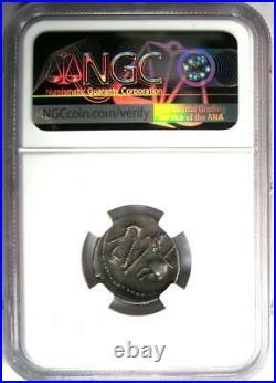 Julius Caesar AR Denarius Silver Elephant Coin 49-48 BC Certified NGC XF (EF)