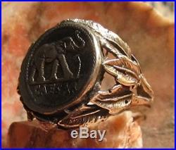 Julius Caesar Authentic HISTORIC Silver Elephant Denaris Coin Ring