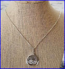 Julius Caesar Genuine Ancient Roman Elephant Denarius Coin 925 Silver Necklace