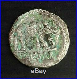 Julius Caesar Roman Coin Caesar Denarius War Elephant 49-BC