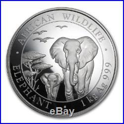 KILO Somali Republic 2015 2000 Shilling 999 Silver 32.15 oz African Elephant