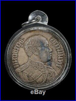 King Mongkut Rama6 Silver Coins Vajiravudh Portait Erawan Elephant Be. 2461