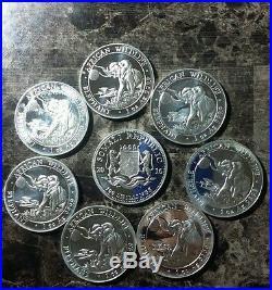 LOT OF (7) 2016 SAMOLI ELEPHANT 1 oz. 999 FINE SILVER PROOFLIKE COINS