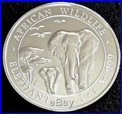 Lot Of 4 2015 Somalia 1 Oz. 999 Silver Elephant Bu! African Wildlife Series