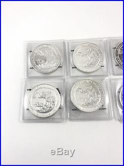 Lot of 10 2016 1oz Silver Somalian Elephant 0.999 Fine Silver Coin