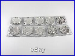 Lot of 10 BU 2015 1 oz Silver Somalian Elephant Coin 10 oz Total. 999 fine