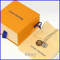 Louis Vuitton Chapman Brothers Vene Elephant Motif Coin Necklace Pendant-13.7g