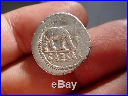 Lucernae Imperatorial coins Julius Caesar AR denarius. Military mint. Elephant