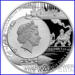 MECHANICAL ELEPHANT Fantastic World Jules Verne 1 Oz Silver Coin 1$ Niue 2018