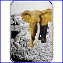 Malawi 2011 20 Kwacha Art of Hunting Elephant Hunting Silver Coin