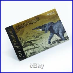Malawi 20 kwacha Art of hunting elephant silver rectangular coin 2011