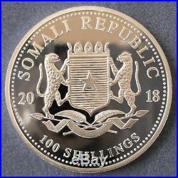 Mint Tube Of 20 2018 Somali Elephant 1 oz One Ounce 99.9% Silver Bullion Coins