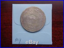 ND 1860 Thailand Rama IV 1 Baht silver coin Elephant