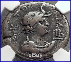 NERO 65AD Alexandria Elephant Silver Tetradrachm Ancient Roman Coin NGC i61980
